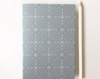 Notebook - Geometric notebook - Geometric designs - Stationary - A6 notebooks