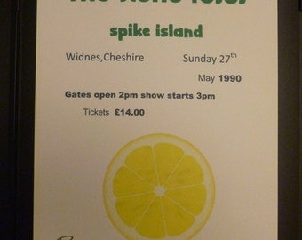 the stone roses ian brown signed replica spike island concert gig art print poster A4