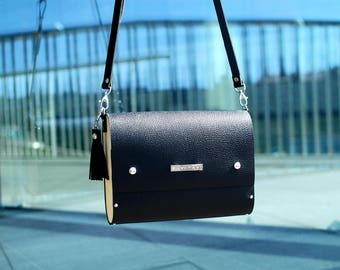 Satchel, satchel bag, leather satchel, Leather purse, cross body handbag, black purse, shoulder bag