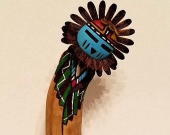 Sunface Kachina by Jerome Nequatewa