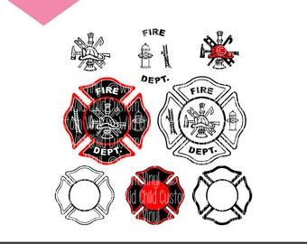 Fire Department Badges SVG, Fire Department Symbold, Fire Department Badge