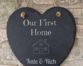 Personalised First Home Gift, Personalised New Home Plaque,  New Home Gift, House Warming Gift, First Home, Gifts for couple, Our First Home