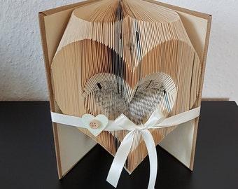 gefaltetes Buch, Herz, Valentinstag, Geburtstag