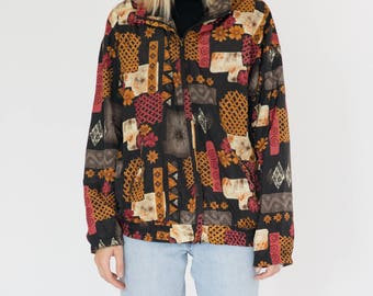 Vintage 90s Autumn Bomber Jacket