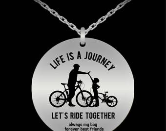 Daddy and Son, Son Pendant, Father Son Gift, Dad Quotes, Father Son Matching, Father Son, Daddy and Me, Gift for Son, Laser Engraved, Charm