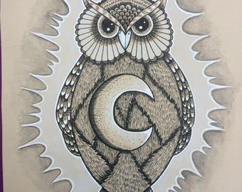 dessin original chouette hibou art