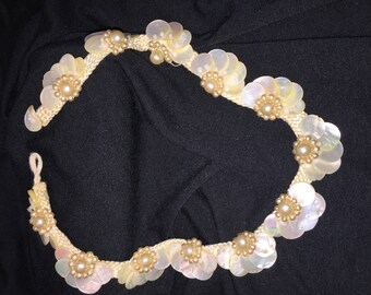 Miriam Haskell Shell and Pearl Choker