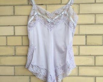 Lavender lace trim teddy