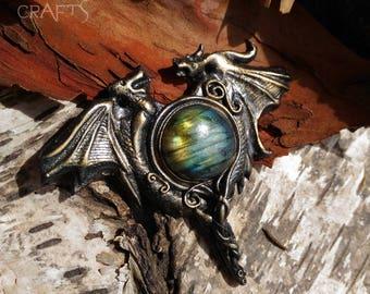 Daenerys Targaryen Inspired Pendant - Dragons - Mother of Dragons - Game of Thrones - Spectrolite - Labradorite  - Pendant - Necklace