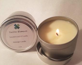 Sandalwood & Vanilla Massage Candle
