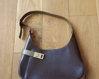 VINTAGE SALVATORE FERRAGAMO Colour Bloc Shoulder Bag