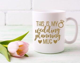 Wedding Planning Decal, Wedding Mug Decal, Gift for Bride, Engagement Gift, Wedding Cup Decal, Bride Decal, DIY Mug Decal, Bridal Shower DIY