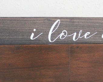 I Love Us Wood Sign//Wood Home Decor//Wedding Gift//Wooden Sign//Table Decor//Mantle Decor