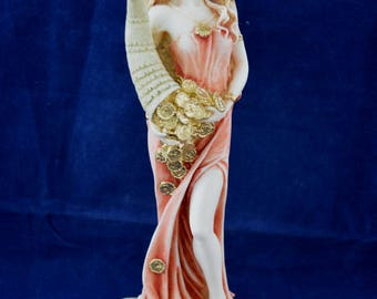 Goddess of Luck and Fortune Tyche statue handpainted sculpture