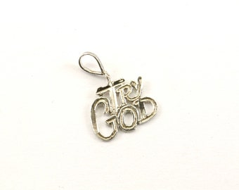 Vintage Small Try God Pendant 925 Sterling PD 1544