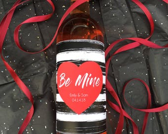 Be Mine Valentine's Day Wine Label for Valentines Gifts, Valentines Day Gift for Him, Valentines Day Gift for Her (1010)