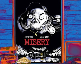 "Illustrated Stephen King ""Misery"" movie poster"