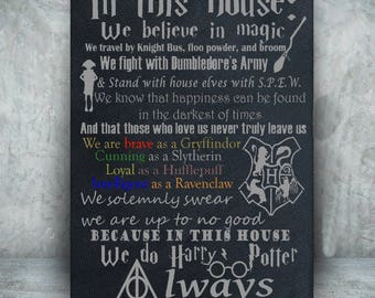 Harry Potter canvas//Harry Potter art//Harry Potter Decor//We do Harry Potter//Canvas Art//Harry Potter Gift//geek decor