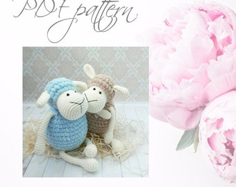 Crochet Sheep, PDF pattern, DIY toys,  Amigurumi Sheep
