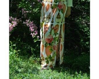 Floral skirt, Summer skirt, skirt, Maxi skirt, Flower Skirt, Long Skirt Viscose Jersey , Gypsy skirt, Hippie skirt