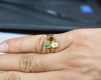 smokey ring,tiny smokey ring,brown color ring,birthstone ring,Christmas gift,adjustable ring,tiny gemstone ring,stacking ring,dainty ring