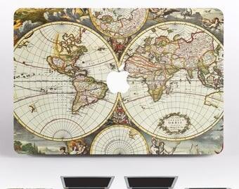 World Map Macbook Pro 13 MacBook Pro 13 inch MacBook Pro 15 inch 11 MacBook Air 13 MacBook 13 Decal Mac Apple MacBook Decal Vinyl DR136