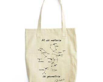 Matter and Geometry astronomy tote bag