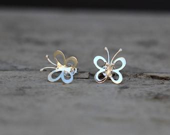 Butterfly Earrings, Butterfly Studs, Stud Earrings, Sterling Silver Earrings, Silver Studs, Classic Earrings, Modern Jewellery JE0053