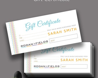 Rodan and Fields Gift Card, R + F Gift Certificate, Rodan + Fields Gift Certificate, Fast Free Personalization,For Independent Consultants 4