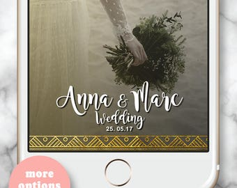 Boho Birthday Decorations, Boho Weddings, Gold Wedding Filter, Gold Birthday Geofilter, Wedding Snapchat Filter, Gold Boho Birthday Decor