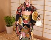 RESERVED doll kimono black party kimono set for Silkstone Barbie and other similar dolls
