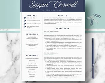 Creative & modern Resume Template; Professional CV, Resume templates; Resume, CV + Cover Letter + references + icon set; curriculum vitae