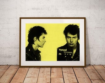 Sid Vicious Mugshot Wall Art