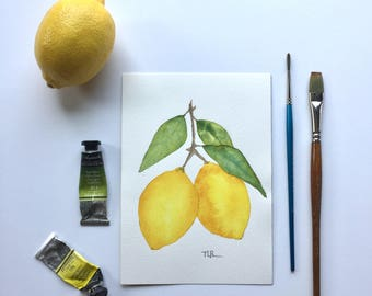 Lemon watercolor 2