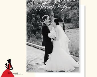 Wedding Thank You Card, Photo Thank You Card, Printable Thank You Card