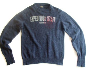 Napapijri Navy Blue 80% Wool Blend Sweater, sz. M