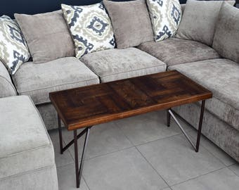 IN STOCK! Coffee table, Reclaimed wood coffee table, Modern coffee table, Wooden coffee table, Brushed Oak Coffee Table, Maple Coffee Table