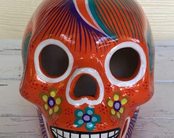 Handpainted Sugar Skull / Mexican Sugar Skull / Day of the Dead / Dia de Muertos / Painted Skull / Sugar Skull