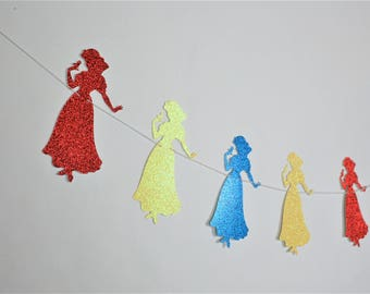 SHIPS FAST - Snow White Garland, Snow White Party Banner, Snow White Banner,  Handcrafted and Shipped in 1-3 Business Days
