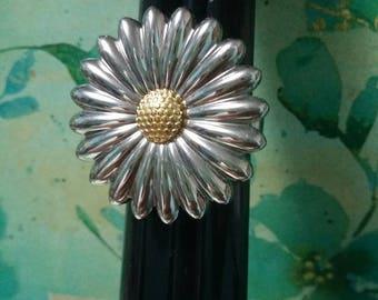 Stainless Steel Statement vintage Flower Ring