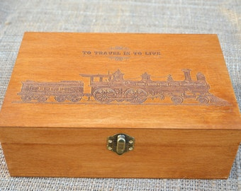 Tea box or Keepsake,  Wooden box, Personalized  Box, tea box, Engraved Box, Custom Tea Storage, Memory box, Tea chest, Tea bag holder,