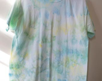 M Ice Tie Dye Short Sleeved T-shirt Blue/Green