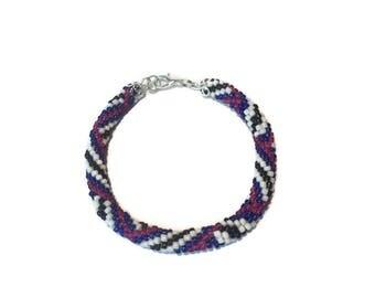 Bead Bracelet Women Roll On Bracelet Nepal Bracelet Seed Bead Bracelet Beaded Bracelets Crochet Bracelet Glass Bead Bracelet Jewelry Gift