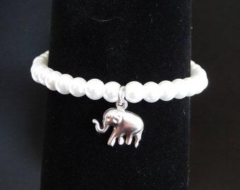 Glass beads (18 cm) bracelet / Glass pearl bracelet (18 cm)