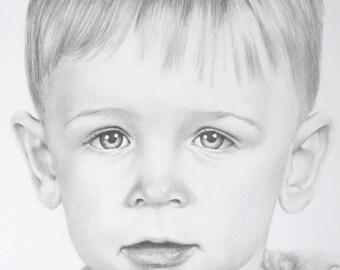 Custom hand-drawn Graphite Pencil Portrait