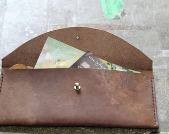 The Christina - Hand Stitched Leather Clutch Wallet