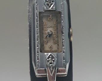 Exquisite Pre-War Ladies BULOVA ART DECO watch, with Bulova strap, all in superb condition------Serviced-----