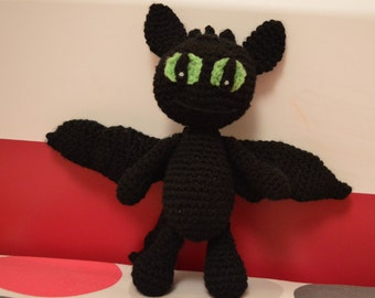 TOOTHLESS Dragon crochet amigurumi NIGHT FURY