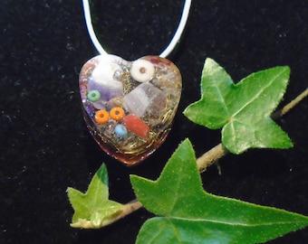 Orgonherz Pendant for children, radiation protection, heart pendant, children's Jewelry