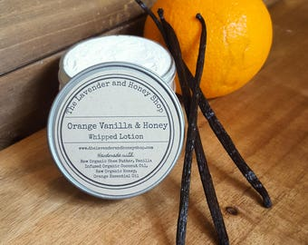 Orange Vanilla & Honey Whipped Lotion